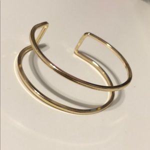 Gold adjustable bangle